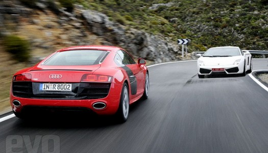 Evo: Audi R8 V10 vs Gallardo LP560-4